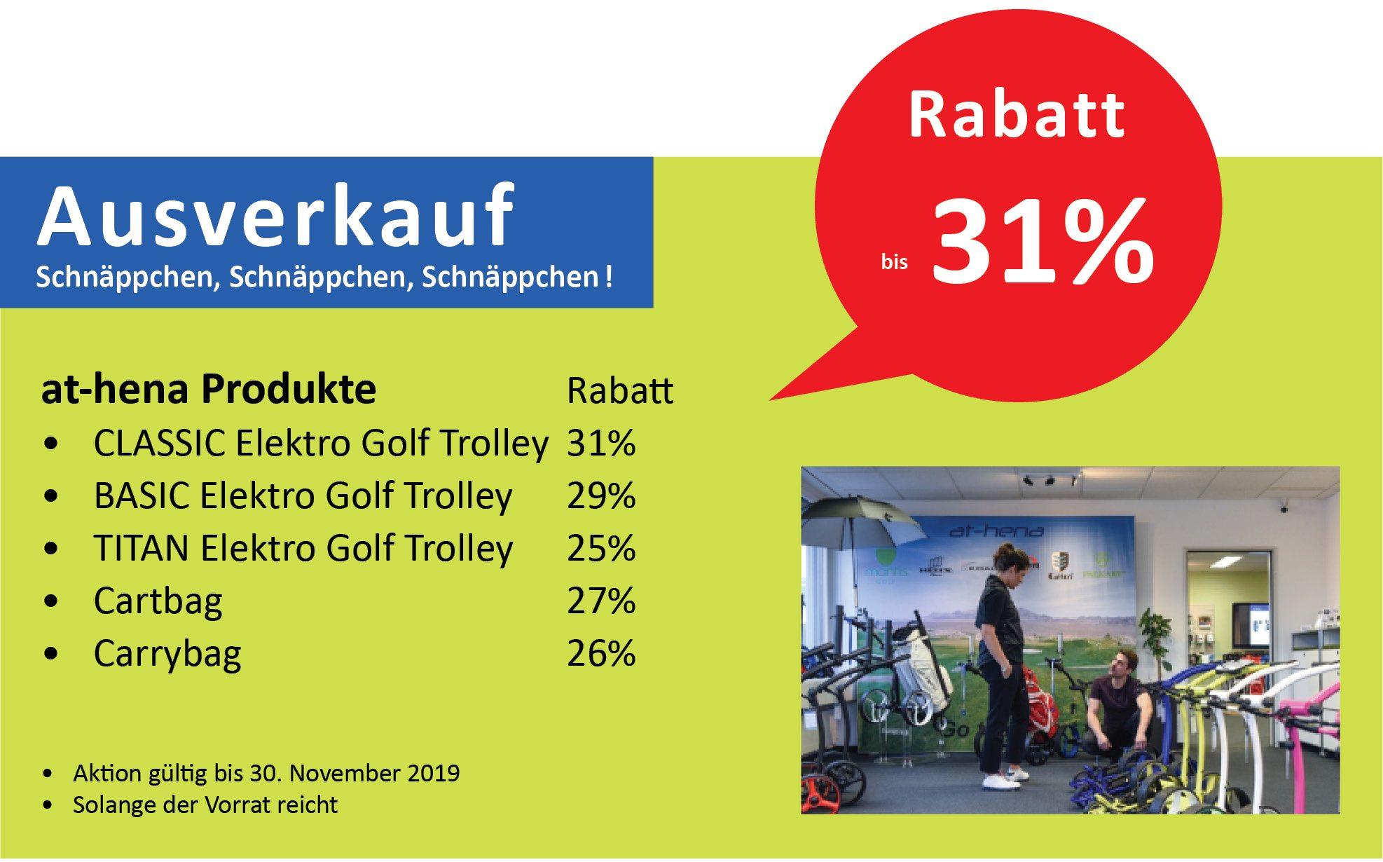 at-hena Eletro Golf Trolley Herbst-Aktion SPRIT-Cartbag