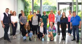 Teilnehmergruppe beim Projektneustart von PETRA 2021 beim BKK Bayern